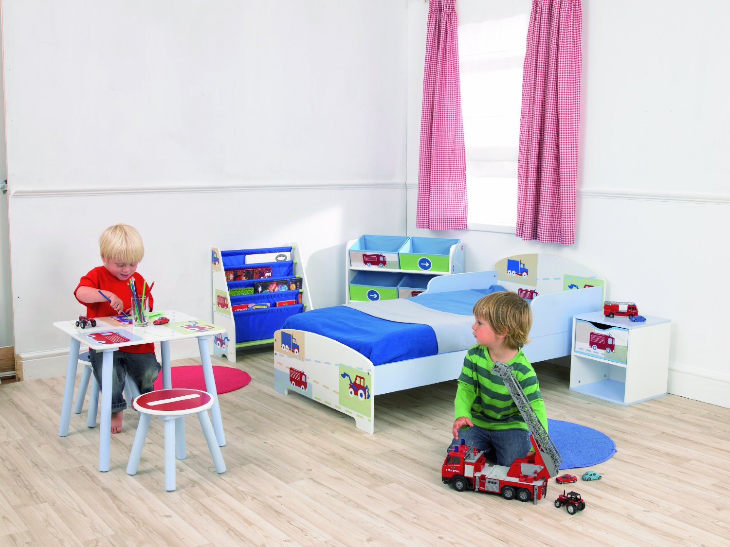worlds apart kinderregal mit 6 aufbewahrungsboxen kinderzimmer. Black Bedroom Furniture Sets. Home Design Ideas